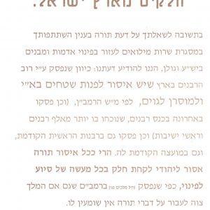 """איחוד הרבנים למען א""""י  תשנג"""