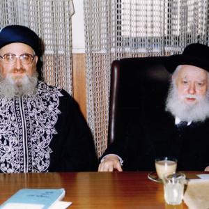 עם הרב מרדכי אליהו